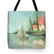 Sailing Day After Monet Tote Bag
