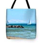 Sailing Days On Lake Erie Panorama Tote Bag