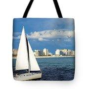 Sailing Destin, Fl Tote Bag