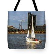 Sailing Downtown Tote Bag