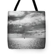 Sailing Dreams Black And White Tote Bag