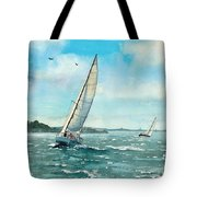 Sailing Harbor Islands Tote Bag