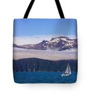 Sailing In Alaska Tote Bag