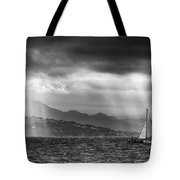 Sailing In Black And White Tote Bag