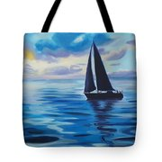Sailing In Cerulean Blue Tote Bag