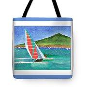 Sailing In Hawaii Tote Bag