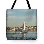 Sailing In Lisbon Portugal Tote Bag