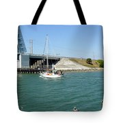 Sailing In Port Canaveral Florida Tote Bag
