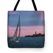 Sailing In Portland Maine Tote Bag