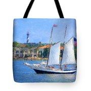 Sailing In St. Augustine Tote Bag