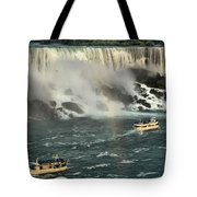 Sailing Into The Mist Tote Bag