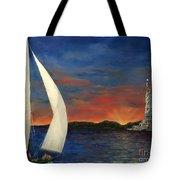 Sailing Liberty Tote Bag