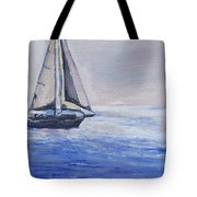 Sailing Off Cape May Point Tote Bag