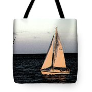 Sailing Off Of Diamond Head Tote Bag