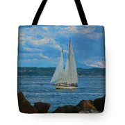 Sailing On A Summer Day Tote Bag