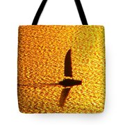 Sailing On Gold Tote Bag