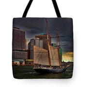 Sailing On The East River Tote Bag