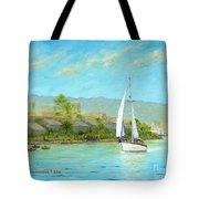 Sailing Out To Sea Tote Bag