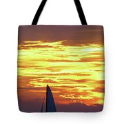 Sailing Past The Sunset Tote Bag