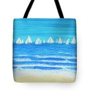 Sailing Regatta White Tote Bag