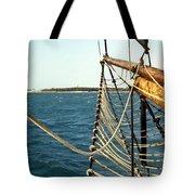 Sailing Ship Prow On The Caribbean Tote Bag