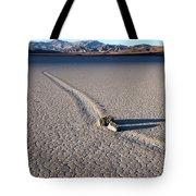 Sailing Stones Collide On The Racetrack Playa  Tote Bag