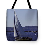 Sailing Stonington Harbor Tote Bag