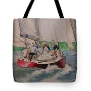 Sailing Teamwork Tote Bag