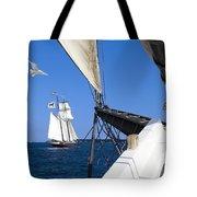 Sailing The Atlantic Tote Bag
