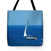 Sailing The Deep Blue Sea Tote Bag