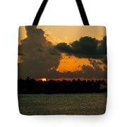 Sailing The Keys At Sunset Tote Bag