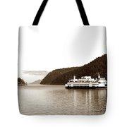 Sailing The San Juan Islands Tote Bag by Lorraine Devon Wilke