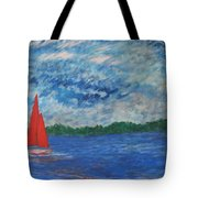 Sailing The Wind Tote Bag
