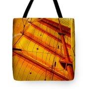 Sailing Through Gold Tote Bag