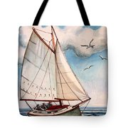Sailing Through Open Waters Tote Bag