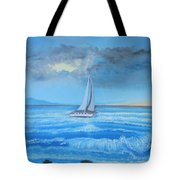 Sailing Through The Storm Tote Bag