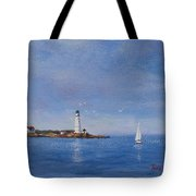 Sailing To Boston Light Tote Bag