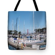 Sailing To The Golden Gate Tote Bag