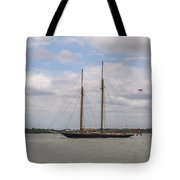 Sailing Under British Flag Tote Bag