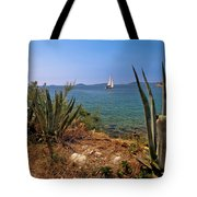 Sailing Waterfront Of Prvic Island View Tote Bag
