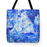 Sailing With Friends Tote Bag