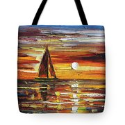 Sailing With The Sun Tote Bag