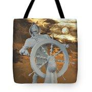 Sailor In Coming Storm Tote Bag