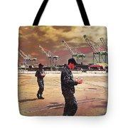 Sailors And Food Trucks Tote Bag