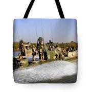 Sailors Racing Along The Euphrates Tote Bag