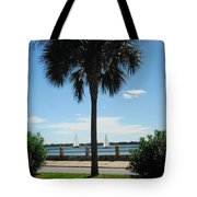 Sails And Palm Tote Bag