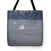 Sails On The Harbor No. 2 Tote Bag