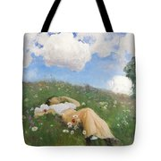 Saimi In The Meadow Tote Bag