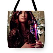 Saint Agnes And The Holy Spirit Tote Bag