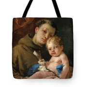 Saint Anthony Of Padua And The Infant Christ Tote Bag